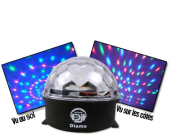 my deejay astro ball diams boule lumineuse dot e de 3 leds jeu de lumiere sono dj jeu de. Black Bedroom Furniture Sets. Home Design Ideas